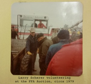 Annual FFA Auction has Something for Everyone Larry scherer historic photo